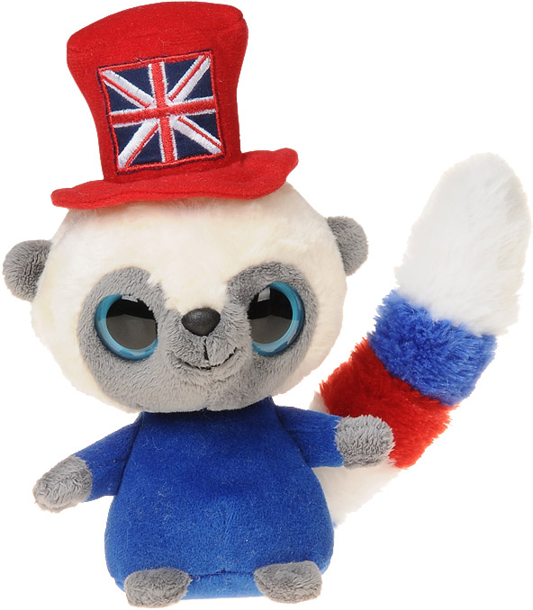 "YooHoo & Friends YooHoo Union Jack Hat 5"" Soft Bush Baby"