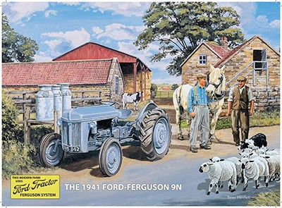 The 1941 Ford-Ferguson 9N Metal Wall Sign