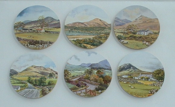 Set of 6 Round Drinks Coasters - Scenic North of Ireland