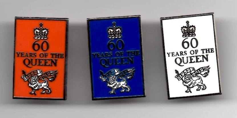 Diamond Jubilee 60 Years Of The Queen Lapel Pin Badge