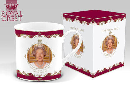 Queen's Diamond Jubilee Bone China Windsor Mug