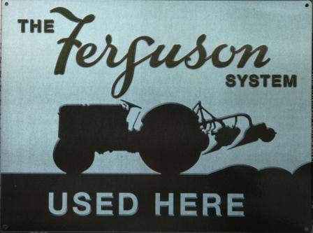 Ferguson Enamelled Mono Color Sign