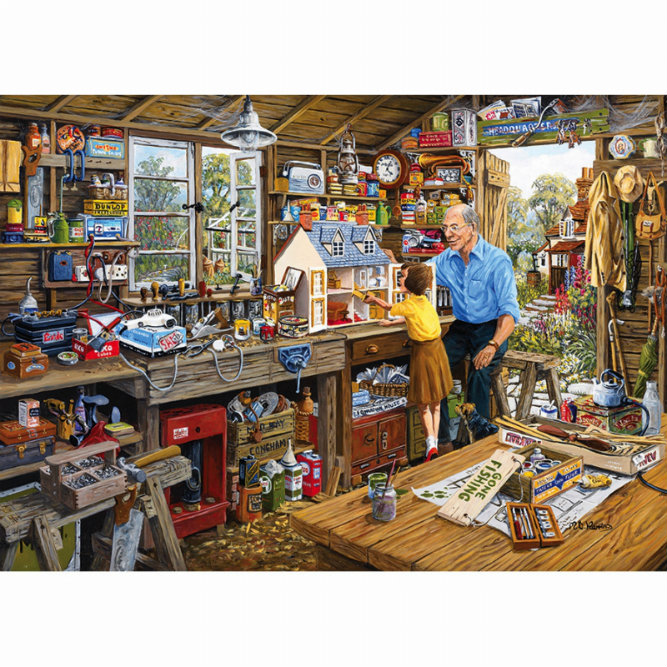 Gibsons Grandad's Workshop 1000 piece Jigsaw Puzzle