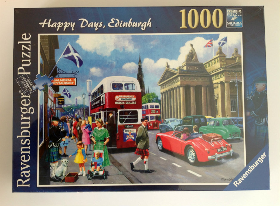 Ravensburger Happy Days Edinburgh 1000 piece Jigsaw Puzzle