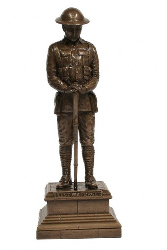 Lest We Forget Unknown Soldier Bronze Figure 12 inch