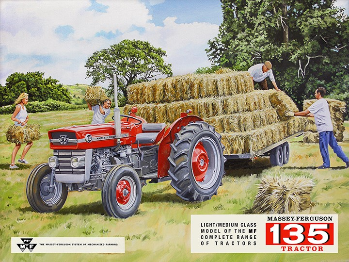 Massey Ferguson MF135 Tractor Retro Metal Sign