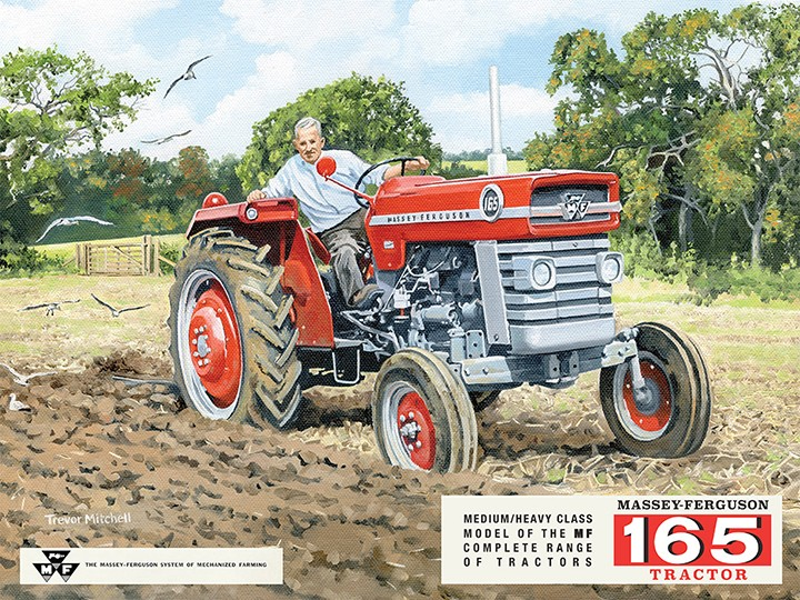 Massey Ferguson MF165 Tractor Retro Metal Sign