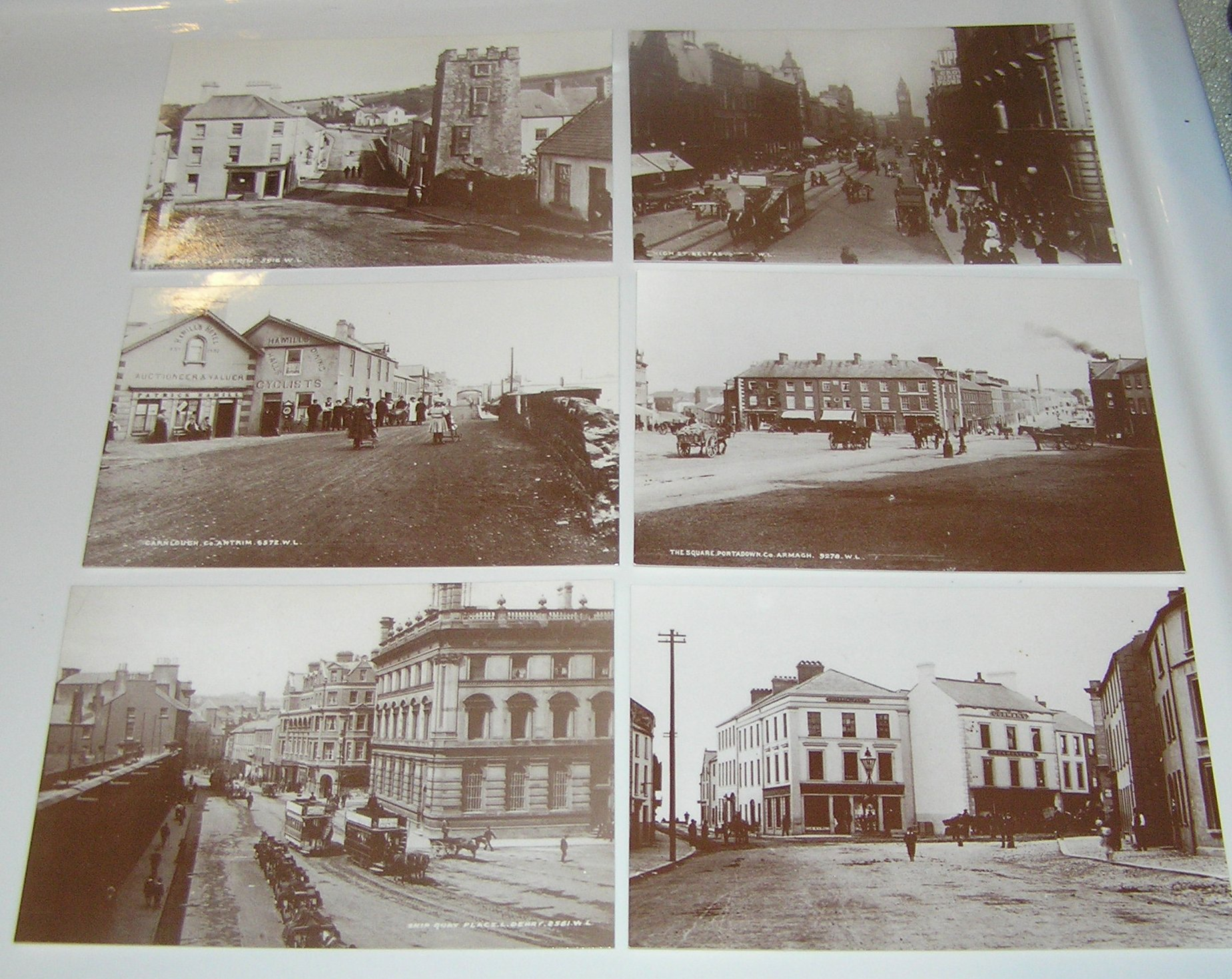 Set of 6 Old Northern Ireland Postcards