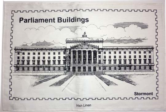 Parliament Buildings Pure Linen Tea Towel