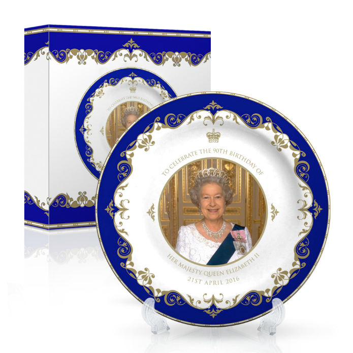 Queen Elizabeth II 90th Birthday Small Bone China Plate