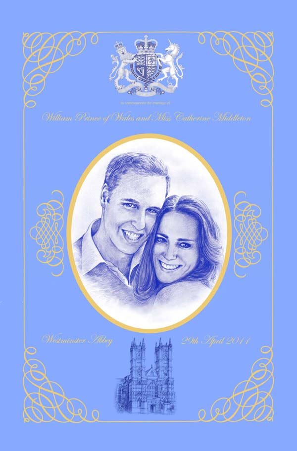Royal Wedding Cotton Tea Towel
