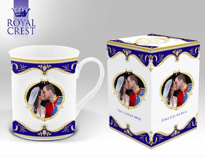 "Royal Wedding ""The Kiss"" Fine Bone China Windsor Mug"