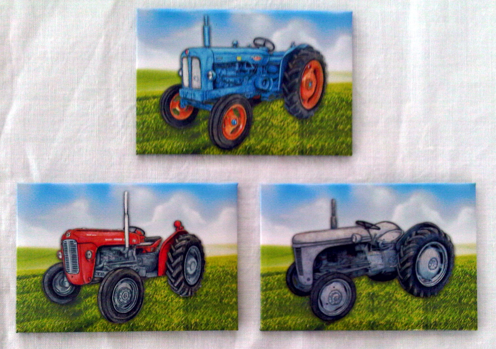 Tractor Fridge Magnets - Set of 3.