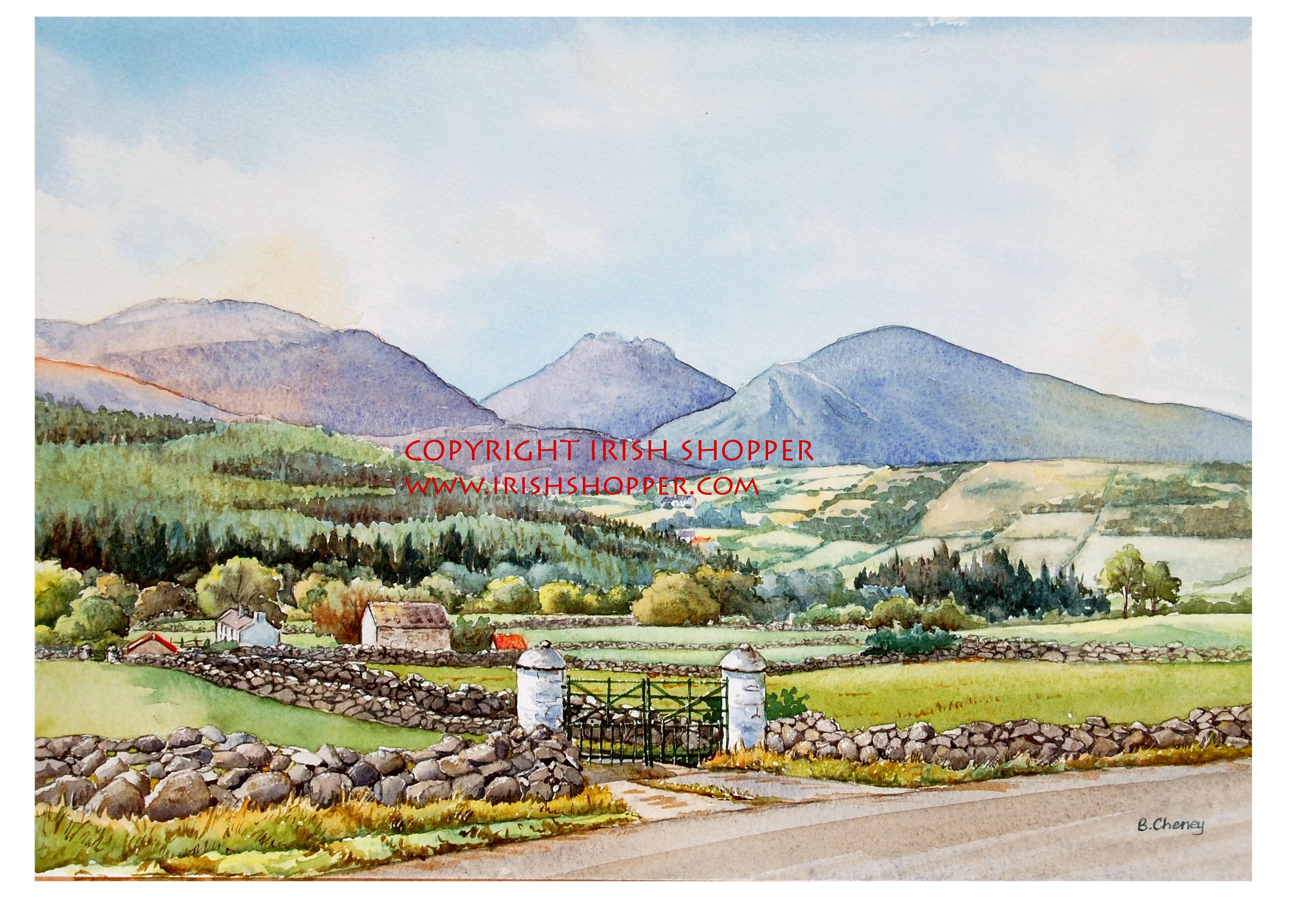 Farm at Slievenaman - Large Print