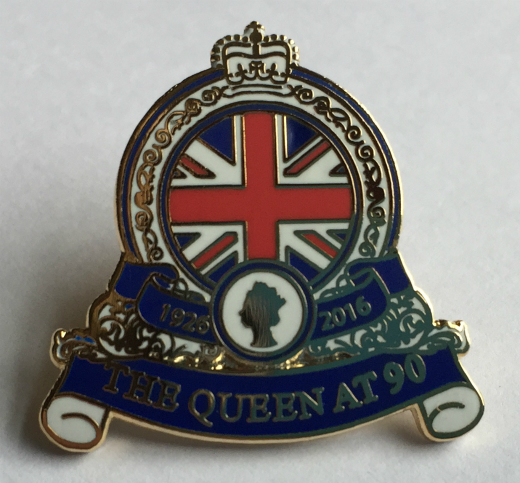 1926-2016 The Queen at 90 Lapel Pin Badge