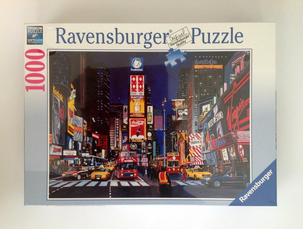 Ravensburger Times Square NYC 1000 piece Jigsaw Puzzle - Click Image to Close