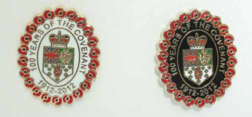 Ulster Covenant | 1912 - 2012 | Lord Carson | Enamel Pin Badges