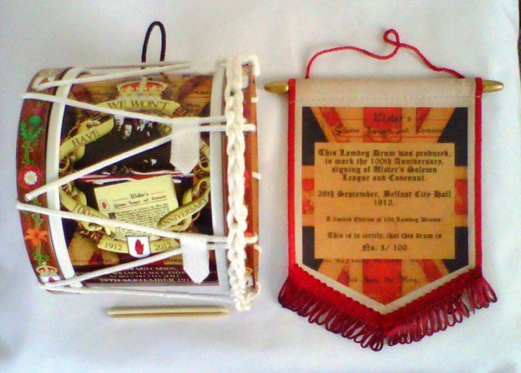 The Ulster Covenant Limited Edition Mini Lambeg Drum & Pendant