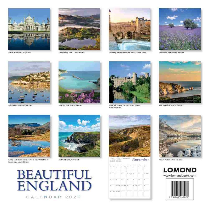 Beautiful England Calendar 2020