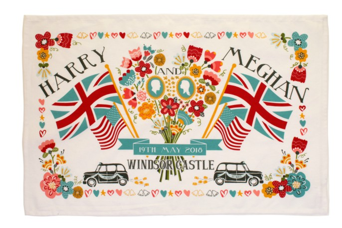 Harry and Meghan Souvenir Cotton Tea Towel