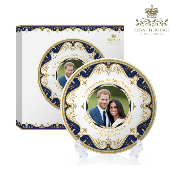 Royal Wedding Prince Harry and Meghan Markle China Medium Plate