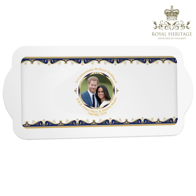 Royal Wedding Prince Harry and Meghan Markle Sandwich Tray - Click Image to Close