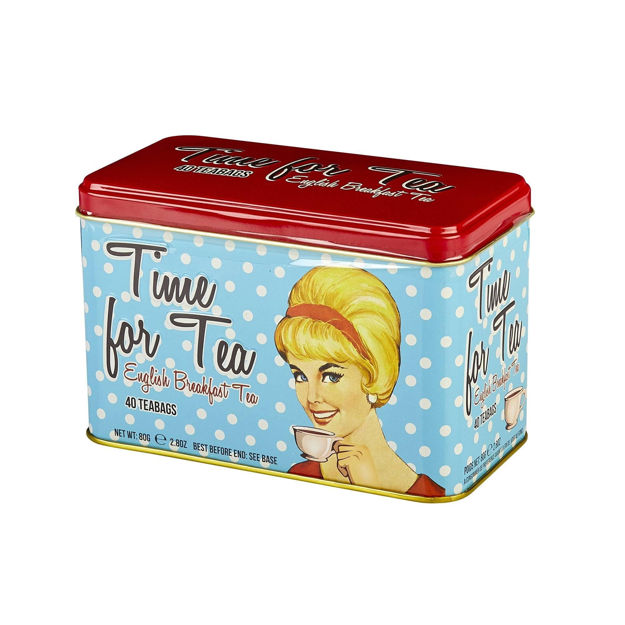 Time For Tea English Breakfast Tea Tin 40 Teabags