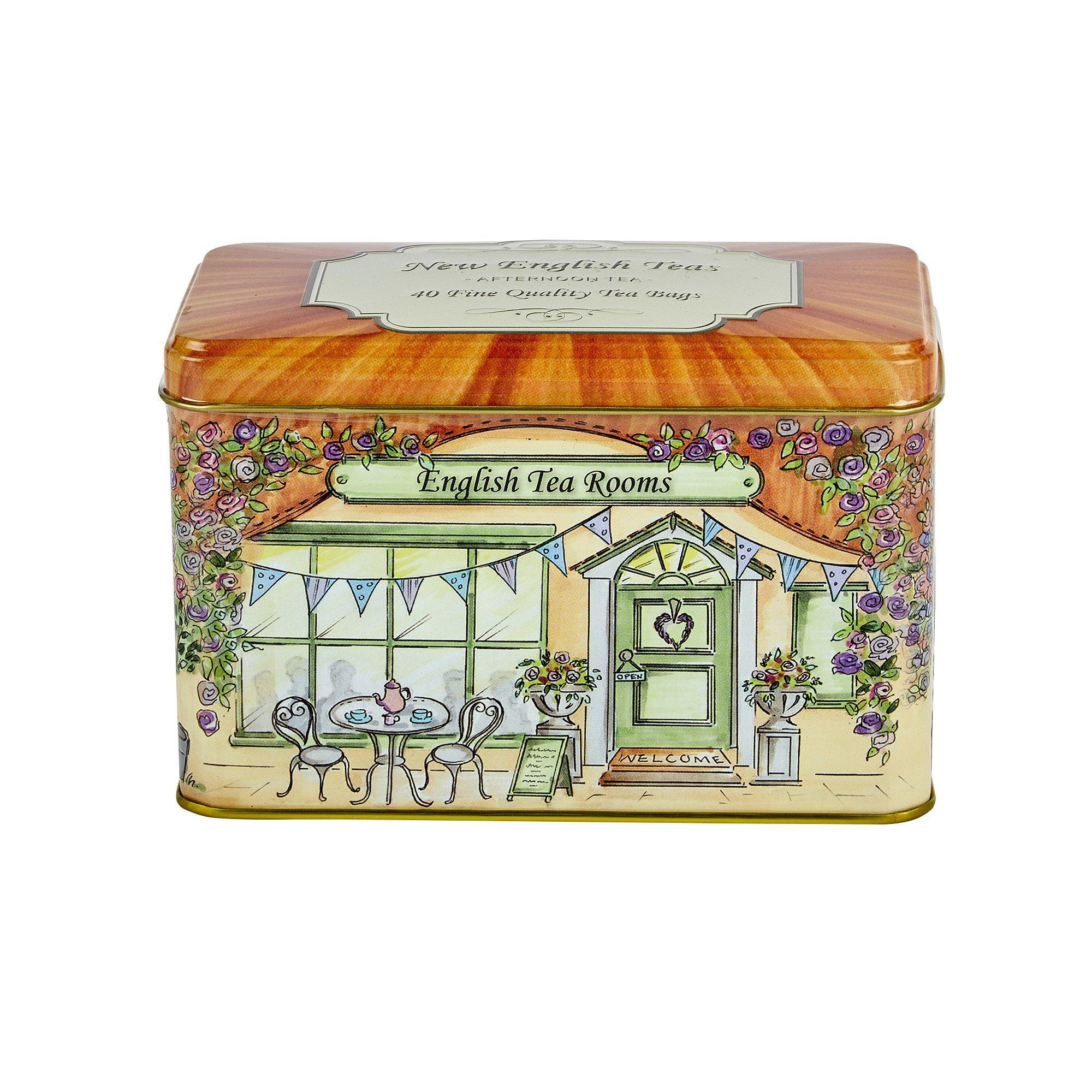 Vintage English Tea Rooms English Breakfast Tea Tin 40 Teabags