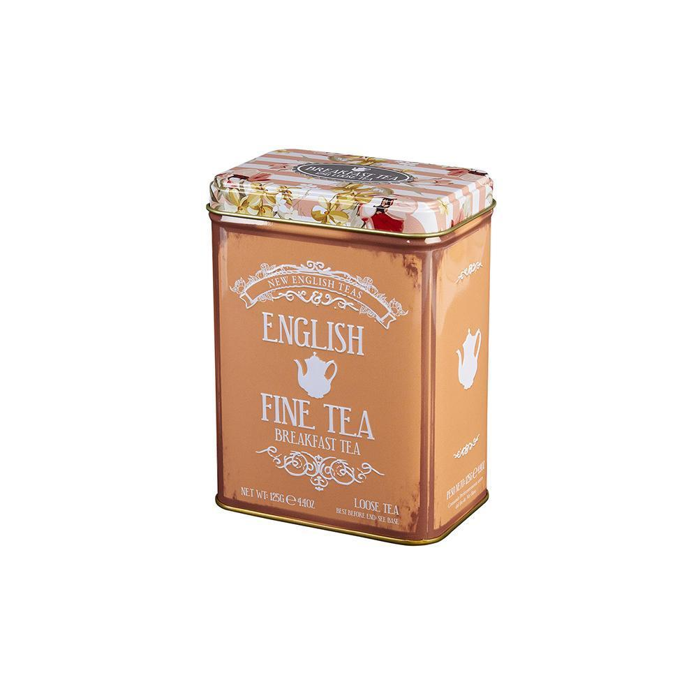 Vintage Floral Fine English Breakfast Tea Tin 125g